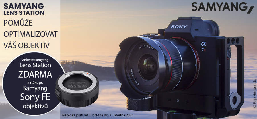 Samyang - Sony lens station (do 31.5.2021)