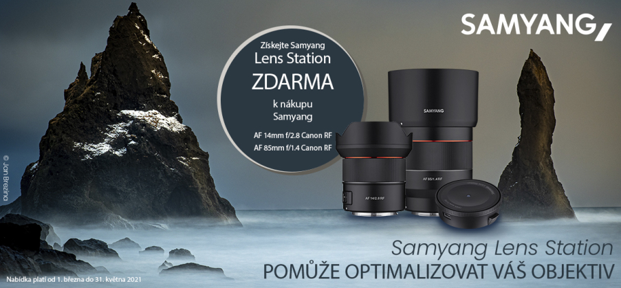 Samyang - Canon RF lens station (do 31.5.2021)