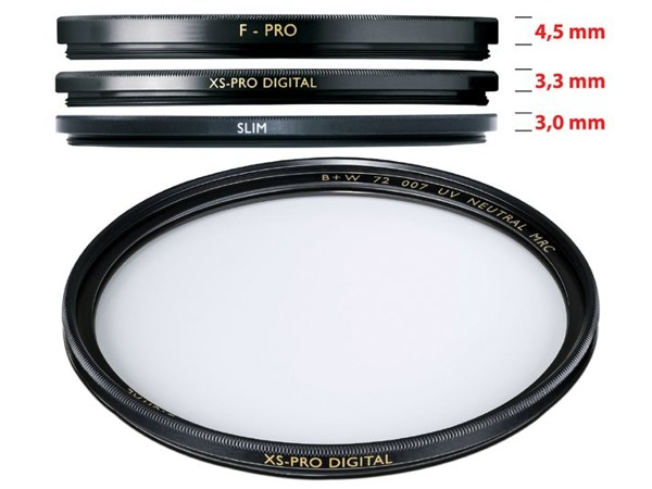 B+W UV XS-PRO DIGITAL MRC nano 72mm
