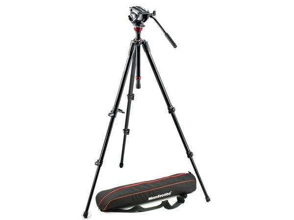 Manfrotto MVH500AH,755XBK, VIDEO stativ s hlavou, SET aluminium